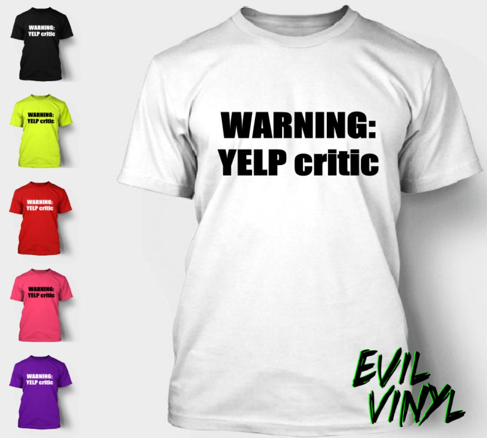 warning yelp critic tshirt funny southpark colorado cartman