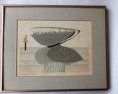 "Ikki Matsumoto ""Rain,Rain Go Away"" Lithograph, Framed Print"