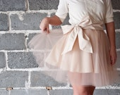 Pink Tulle Skirt with Bow