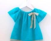 VERY EASY Baby peasant top pattern pdf, baby sewing pattern pdf, NATALIE baby
