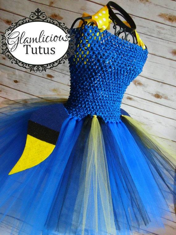 Items similar to Dory inspired tutu dress costume | Fish ...