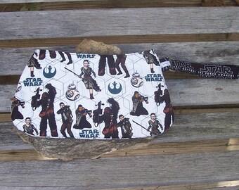 Star Wars Wristlet - Force Awakens Clutch Handbag Purse - BB-8 Poe Rey Fin Chewbacca - Rebel Alliance - Swoon Coraline