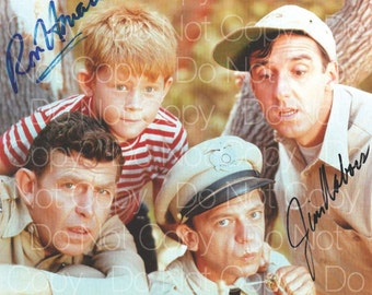 The Andy Griffith Show signed Andy Griffith  Don Knots  Ron Howard  Jim Nabors 8X10 photo picture poster autograph RP