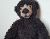 """Artist Teddy bear - Bruno, 11"""" (28 cm) OOAK teddy bear,Mohair bear, needle felted bear"""