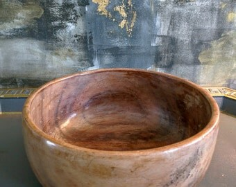 Vintage Wooden Lacquered Bowl