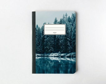 Frozen Forest Notebook - Journal - Sketchbook - Blank pages - Lined pages