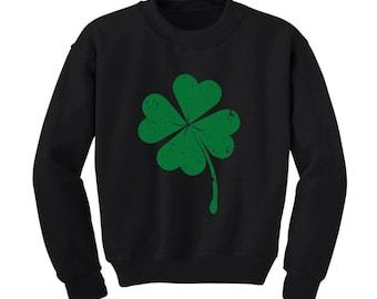 Faded Shamrock - St. Patrick's Day - Toddler Sweatshirt