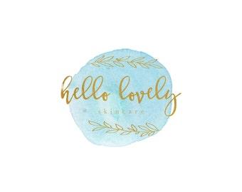 Logo Design - hello lovely - gold vine