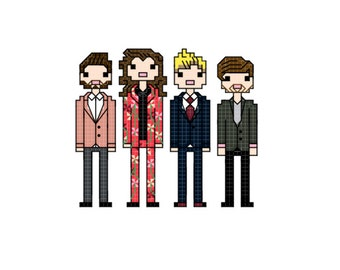One Direction - 2015 X-Factor - cross stitch pattern