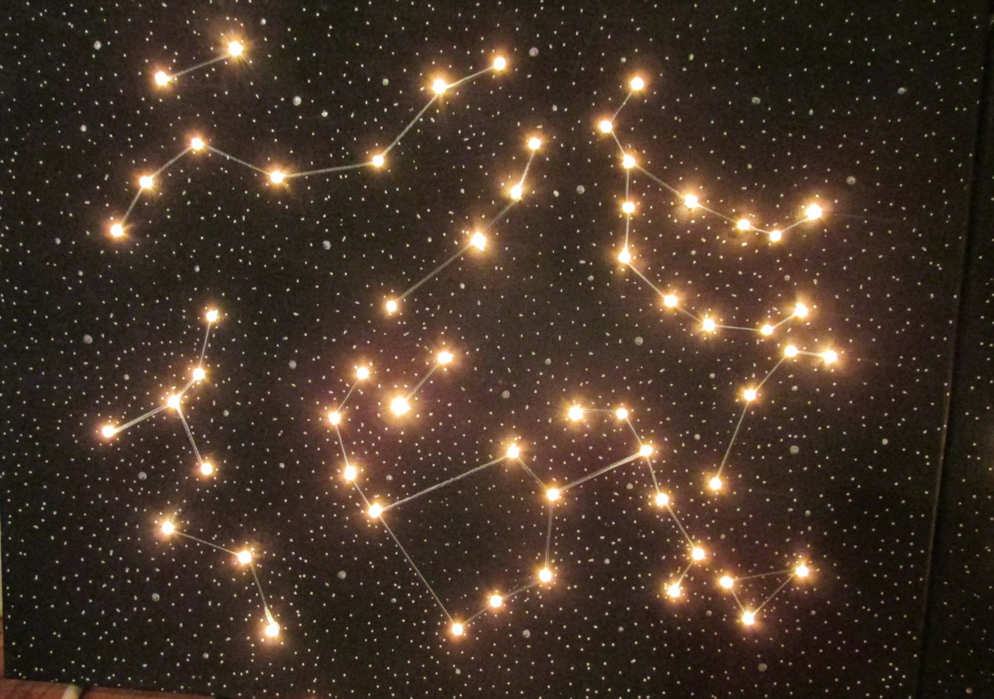 light up constellation wall art canvas by adreamershome on. Black Bedroom Furniture Sets. Home Design Ideas