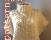 PDF Crochet Pattern Rideau River Poncho Cape Instant Download