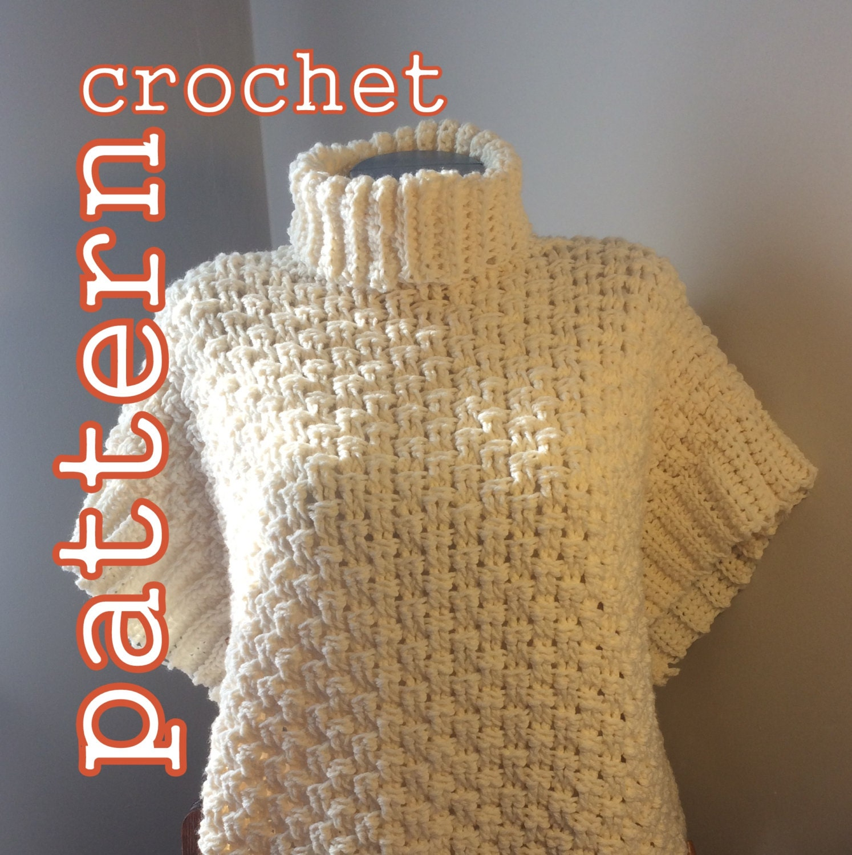 pdf crochet pattern rideau river poncho cape instant. Black Bedroom Furniture Sets. Home Design Ideas