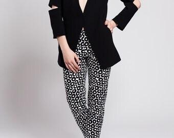Cigarette trousers, pants, trousers, length 7/8, leg 7/8, patterned, elegant, original, fashionable, comfortable