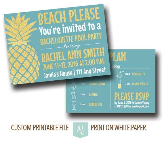 Bachelorette party invitation printable file pool party bridal il570xn filmwisefo