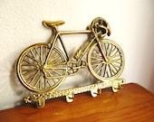 Unused Vintage Brass Bicycle Key Rack, Bike Key Holder, Schwinn 10 Speed, Key Hanger, 1970's, New In Box