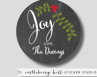 Joy stickers, Holiday gift tags, Christmas gift tags, Christmas tags, Christmas gift label, gift labels, Holiday gift labels personalized