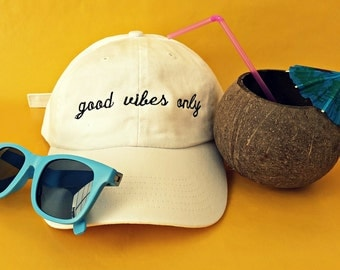 Good Vibes Only Baseball Hat