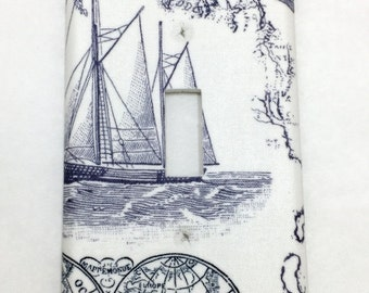 Sailboat at Sea Light Switch Plate Cover / Outlet Cover / Bedroom / Home Decor / Housewarming Gift / Nursery Decor / Kid's Room / Nautical