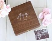 Personalized Baby Keepsake Box, Memory Box, Baby's First, Baby Shower Gift, New Baby Gift, Child Loss Keepsake, B-1