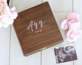 Personalized Baby Keepsake Box, Memory Box, Baby's First, Baby Shower Gift, New Baby Gift, The Paper Walrus