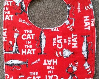 Cat In The Hat Bib