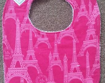 Eiffel Tower Bib - Pink