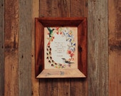 Wildflower Print . A A Milne Quote . Birds . Wreath . Adventure . Nature