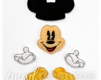 Mr Mouse Bow Parts Digital Design File