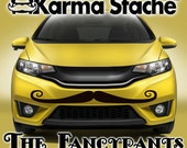 "48"" Car Mustache Vinyl Decal Sticker - Style; Fancypants - Color; Black  -  Karma Stache: Your #1 Source for Car Mustaches!"