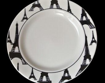 Eiffel Tower HOMER LAUGHLIN dinner Plate China Dinnerware Paris France