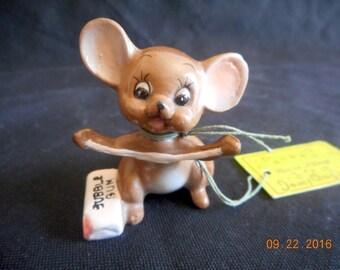 "Josef Original presents Bubba from the ""Mouse Village Series"", Original Hang Tag, Original Japan Sticker"