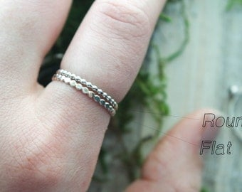 Dot stacking ring   Hammered stacking ring   Silver stacking ring   Silver Dot ring   Hammered ring