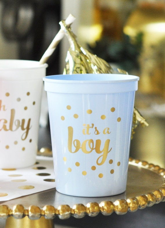 baby shower decor blue and gold baby shower cups set of 25 baby