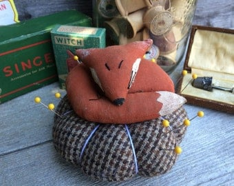 Primitive Fox Pincushion
