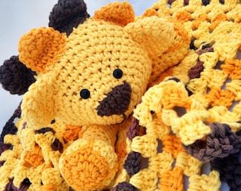 Sarafi Lion, Lion Lovey, Jungle nursery, Baby Security Blanket, Animal Lovey, Lion Baby shower, lion amigurumi, lion blanket, Lion Jungle