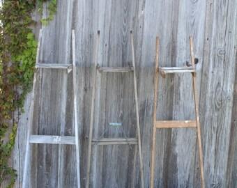 You GET 3 Antique Ladder Backs for Crafts - Make Shelves or Racks - Crafters Special