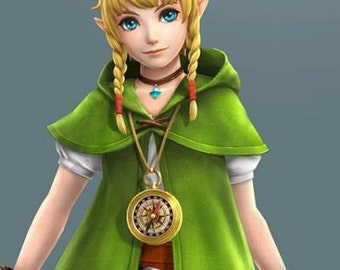 Women's LINKLE Cosplay Costume - Legend of Zelda - NEW  Cape
