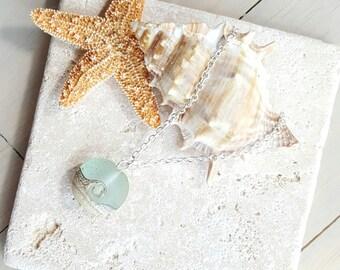 Ocean Wave Necklace, Beach Wedding, Bridesmaid Necklace, Ocean Wave Bead Pendant, Beach Bridesmaid Jewelry, Beach Jewelry