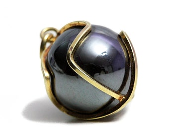 Black Hematite 14k Gold Pendant Bead Jewelry