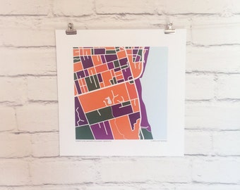 Hobart & William Smith Colleges Map Print