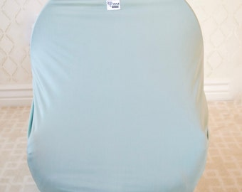 Seafoam Car Seat/Nursing Cover