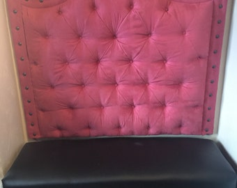 100 pink tufted headboard queen full size canopy bed graine