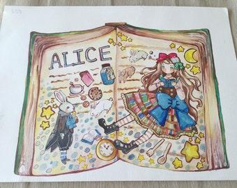 ORIGINAL ILLUSTRATION Alice book