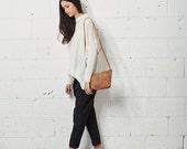 Small Leather Bag, Crossbody Bag, Havana Brown Clutch, Soft Leather Purse