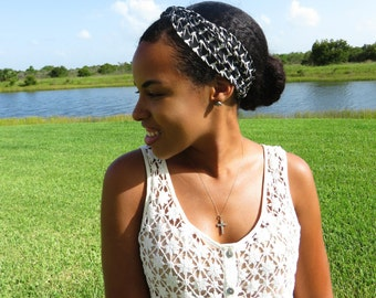 Black and White Multi-wear Head Band