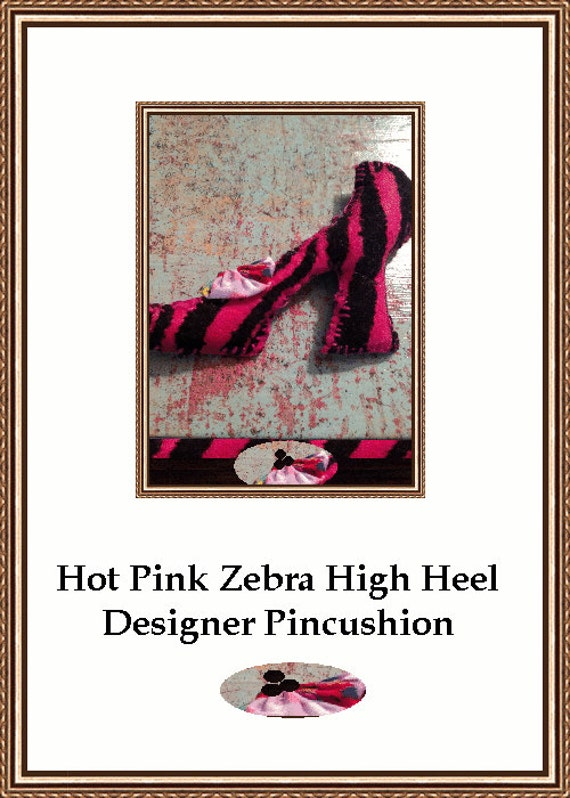 Hot Pink High Heel Shoe Designer Pincushion