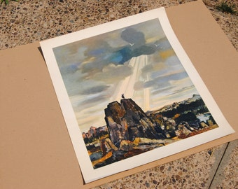 Mid Century Art Print Bernard Lamotte