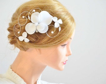 Bridal headpiece Bridal hair comb First Communion hair clip Hair jewlery Floral headpiece Bridesmaid headpiece Hair piece