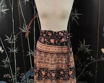 1970s India Cotton Wrap Skirt - Medium/ Large