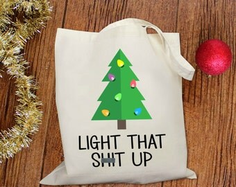 Light That Sh!@ Up Tote Bag in Natural Color
